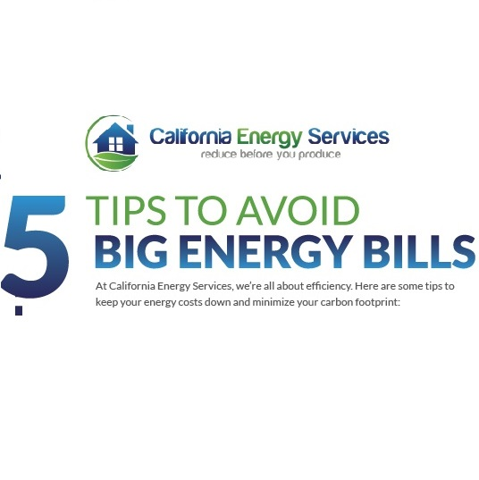 5 Tips To Avoid Big Energy Bills - CES Pro - El Dorado Hills, CA
